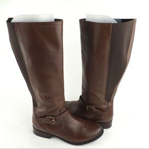 Clarks sz 10 tall brown leather riding boots